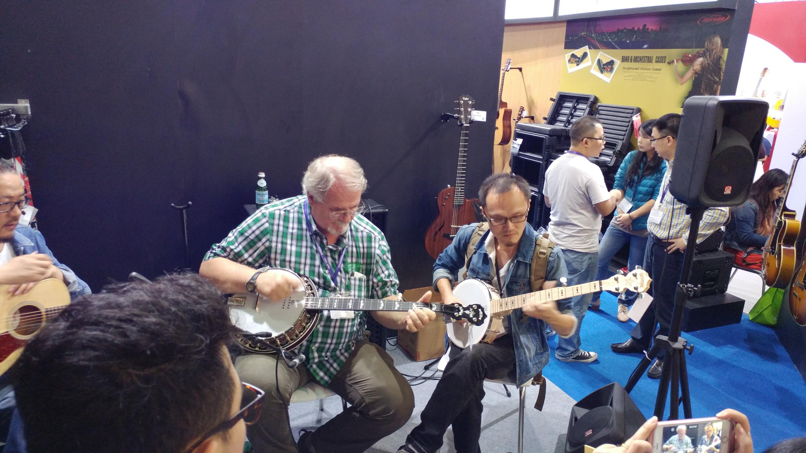 Greg Deering and Eric Shi at the Music China Show