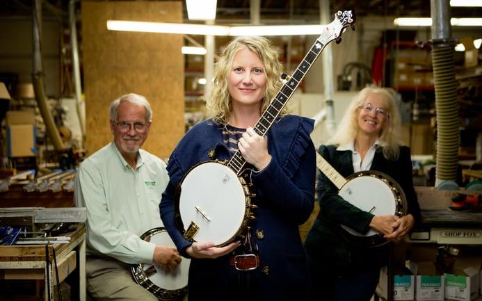 Jamie Deering with Greg and Janet Deering