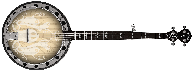 Deering Haunted Banjo 3D Front Mockup