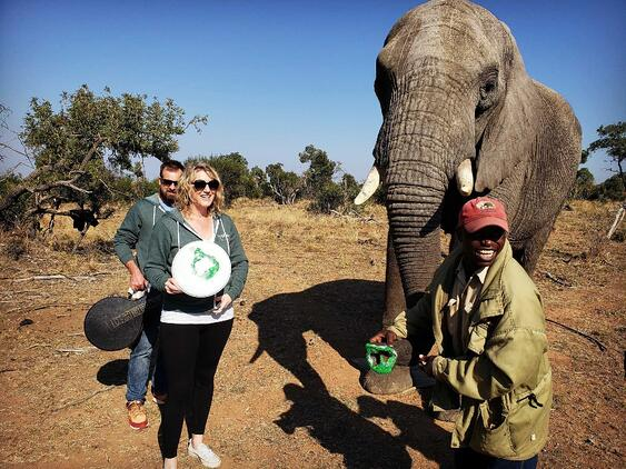 Jamie Deering at Adventures with Elephants