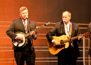 Deering artists The Gibson Brothers Performing at the IBMA Awards. This band also took home several awards that night: Entertainer of the Year for the second year in a row, and three other group and individual trophies!