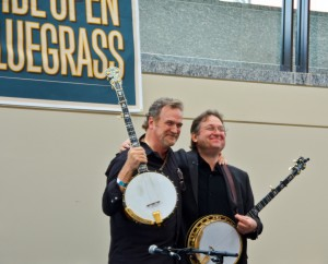 One of the many things special to IBMA: you get masters like Jens Kruger and Mark Johnson doing banjo workshops together for anyone to attend. I'd say they love getting to do these as much as all the folks in the audience, check out those smiles at the end of their workshop this year.