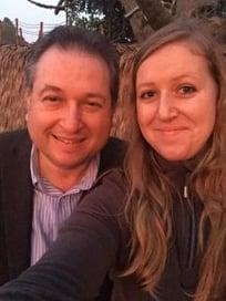 Anja Kruger and her dad, Jens Kruger