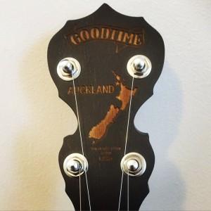 Auckland Charity Goodtime Banjo Peghead