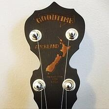 Auckland Charity Goodtime Banjo Peghead