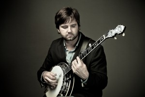Ryan Cavanaugh with his Deering Tenbrooks Legacy Banjo