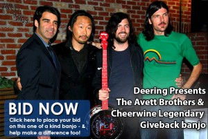Deering Banjos Presents the Cheerwine Legendary Giveback Banjo Signed by The Avett Brothers