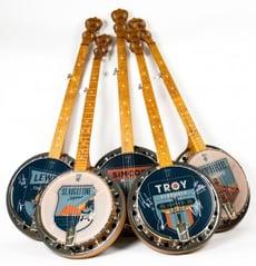 Deering Gentlemen of the Road Charity Auction Banjos