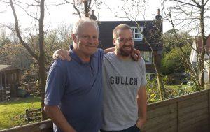 Jamie Latty and dad