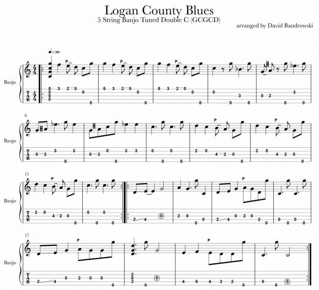 Logan County Blues banjo tab