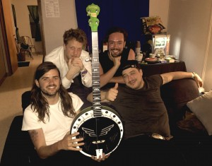 Band with the Oklahoma charity banjo