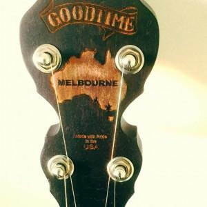 Melbourne Charity Goodtime Banjo Peghead