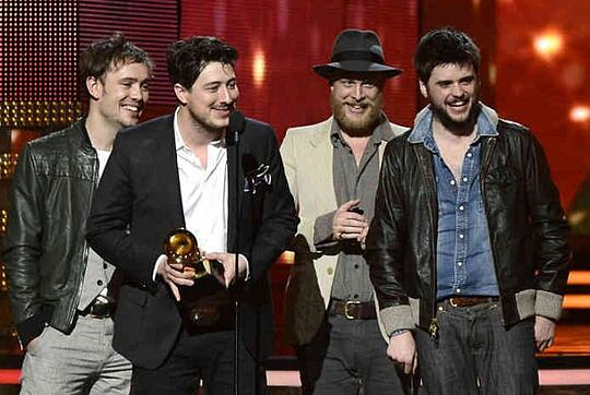 Mumford and Sons at Grammy Awards