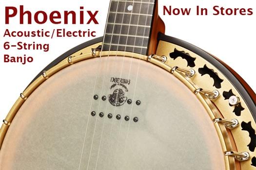 New Deering Phoenix 6-String Banjo Now in Stores