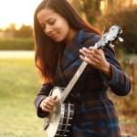 Rhiannon Giddens with her Deering John Hartford banjo