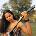 Rhiannon Giddens with her Goodtime banjo