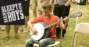 Jonny Mizzone of the Sleepy Man Banjo Boys at the 2012 Newport Folk Festival