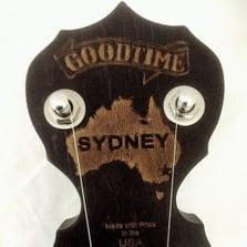 Sydney Charity Goodtime Banjo Peghead