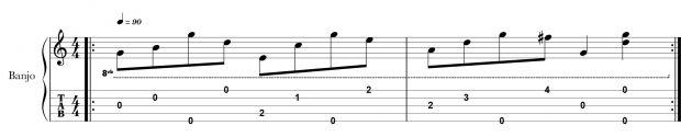 Banjo Tab - Alternating Roll