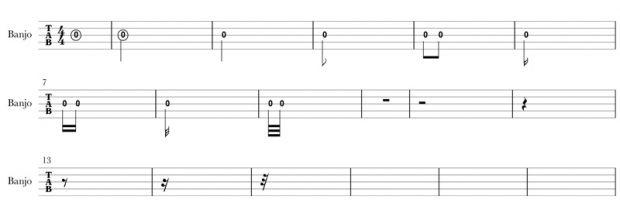 banjo tab note duration