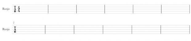blank banjo tab