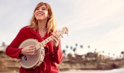 Gayle Skidmore with her Goodtime Banjo Uke
