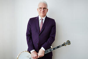Steve Martin with his Deering Clawgrass Banjo