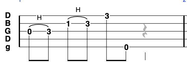 G Minor Pentatonic - going up