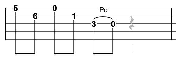 G Minor Pentatonic scale on banjo - going down