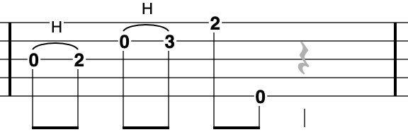 G Major Pentatonic going up on a banjo