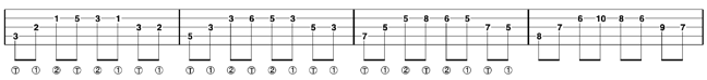 single string banjo arpeggios 1