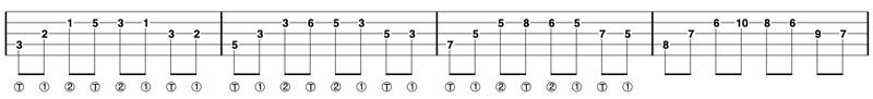 single string banjo arpeggios 1