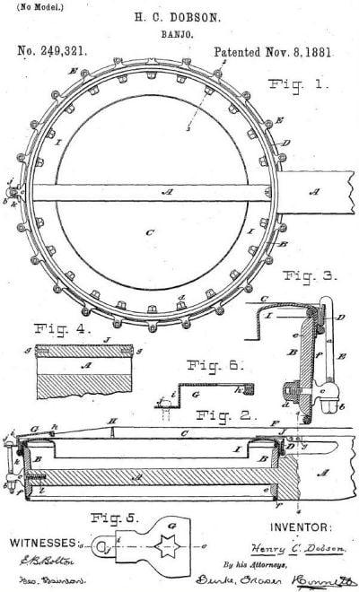 Dobson Banjo Patent