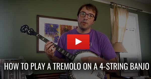 How To Play a Tremolo On 4 String Banjo